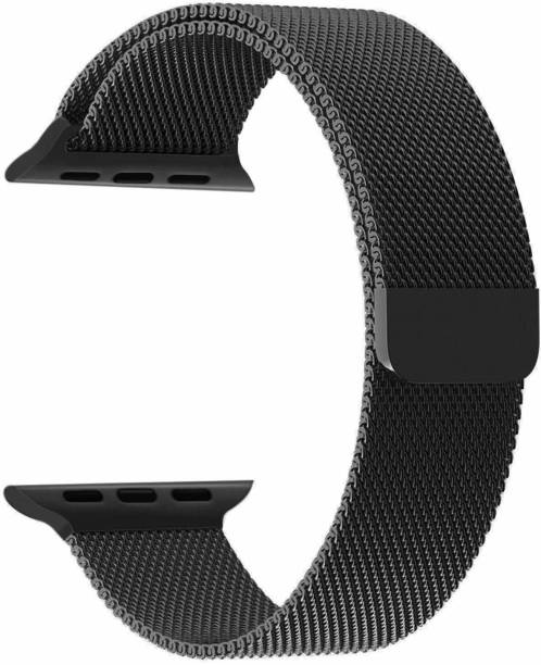 DAEMON Magnetic Lock Stainless Steel Milanese Strap Band (38mm,40mm Black) Smart Watch Strap Smart Watch Strap
