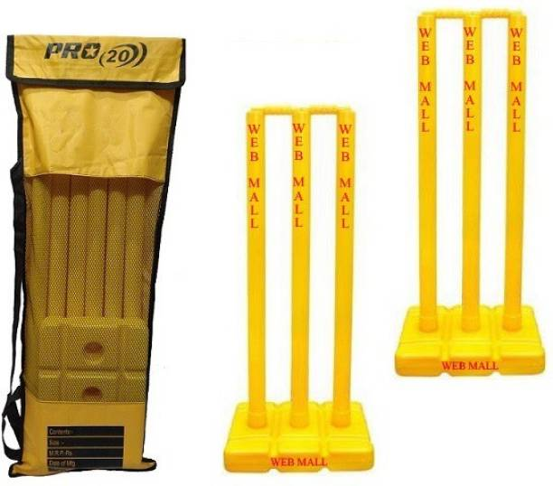 Web Mall Plus Plastic Cricket Stump Set For Cricket Lovers (Pack Of 2)
