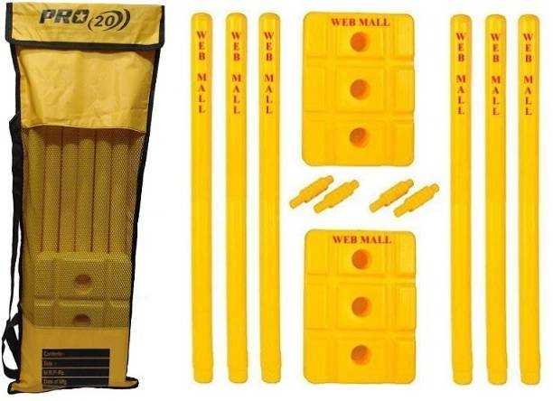 Web Mall Pro Plastic Cricket Stump Set For Champions (Pack Of 2)