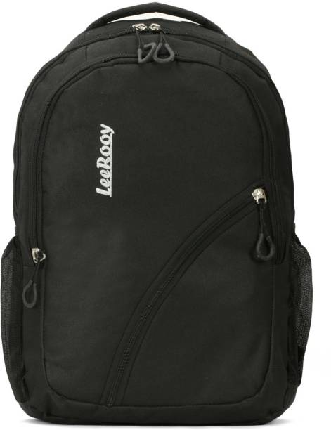 LeeRooy MN-Canvas 30 Ltr Black School Bag Backpack For Unisex Backpack
