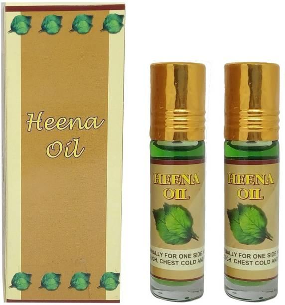 Nilgiris Heena oil 10 ML (Migraine oil) pure & Natural essential oil ( Roll on) pack of 2