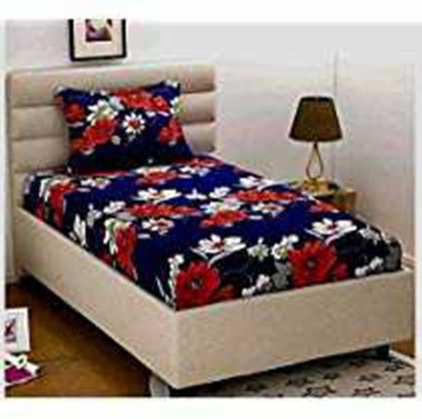 H18 SHEET 160 TC Microfiber Single Floral Bedsheet