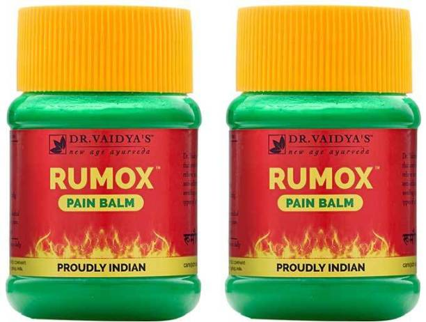 Dr. Vaidya's Rumox Balm - Ayurvedic Muscle & Joint Pain Balm with Eucalyptus, Menthol and Camphor- 50g - Pack of 2
