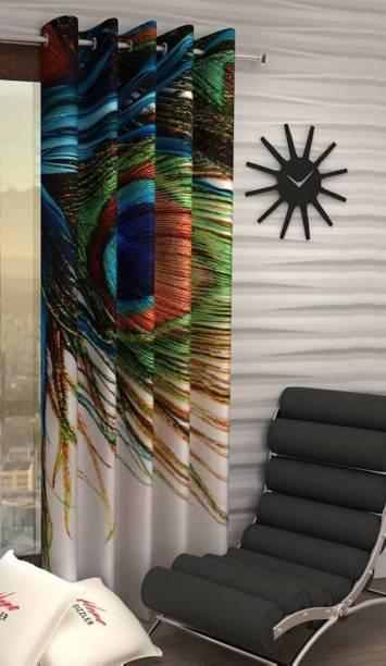 HHH FAB 213 cm (7 ft) Polyester Door Curtain Single Curtain