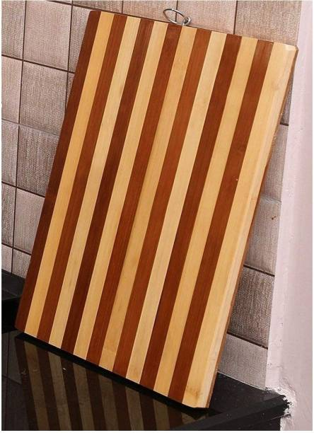 MobFest ® Cutting and Chopping Bamboo Wood Board (Size- 24x34cm) for Vegetable Fruits and Meat Wooden Cutting Board