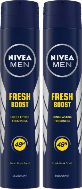 NIVEA Fresh Boost Body Spray  -  For Men