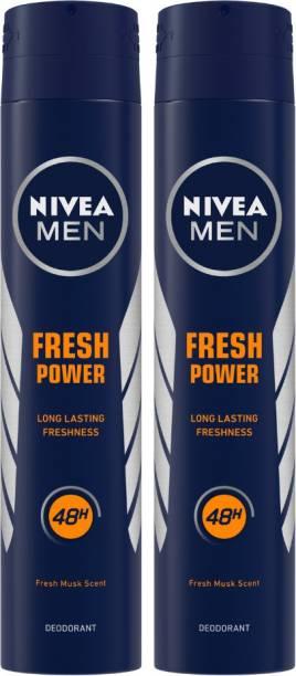 NIVEA Fresh Power Body Spray  -  For Men