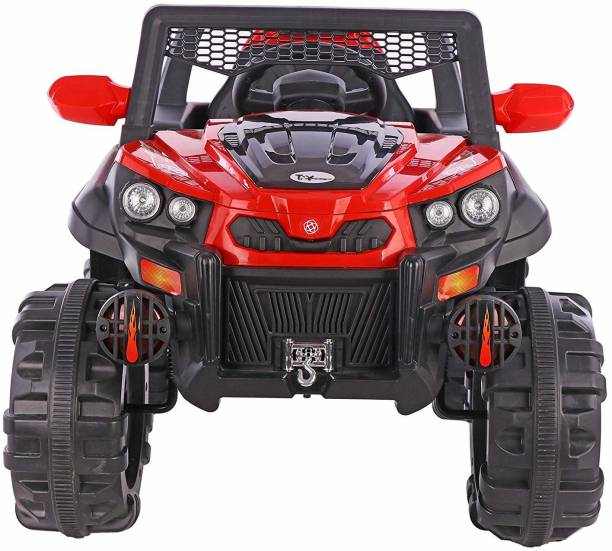 Ayaan Toys Letz Ride Rocky SUV ATV Rechargeable Battery Operated Ride-On with Remote for Kids (2 to 7 Yrs), Red Jeep Battery Operated Ride On