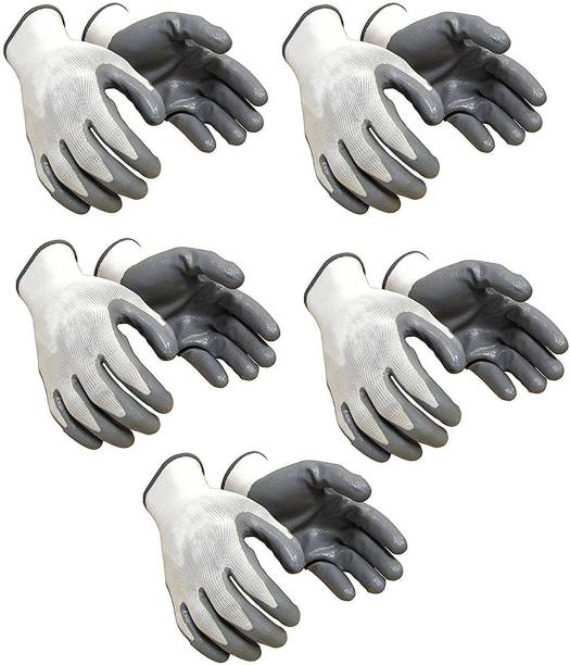 Yiking Anti Cut Hand Gloves pvc cotted 5 pair Nylon  Safety Gloves