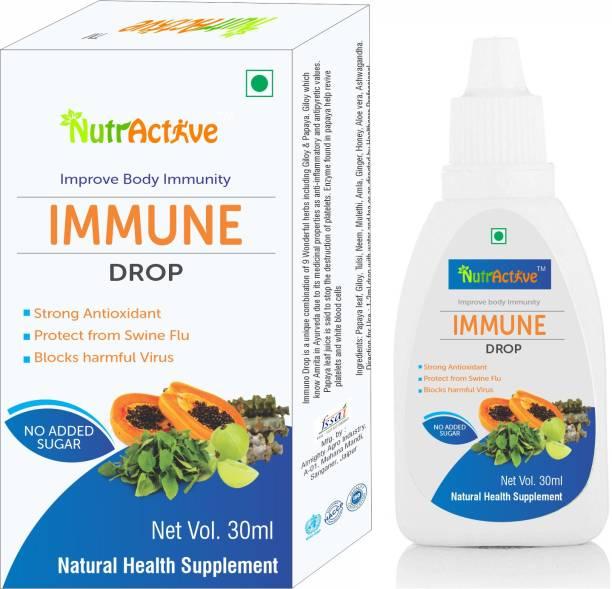 NutrActive Immunity Drop 30 ml - papaya,tulsi,giloy,amla,mulethi