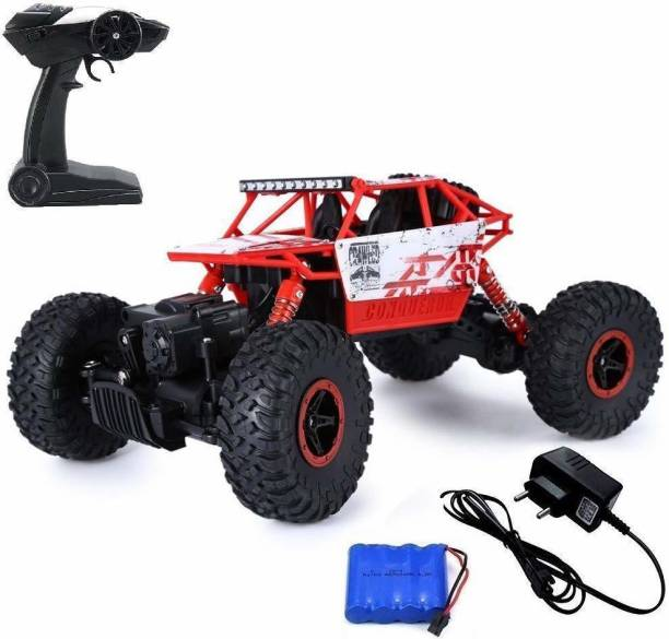 YATRI 1/18 RC Rock Crawler Vehicle Buggy Car 4 WD Shaft Drive High Speed Remote Control Monster Off Road Truck