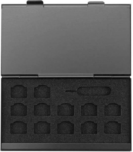 PRO365 Alumunium sim card holder organizer and memory card storage box Sim Adapter