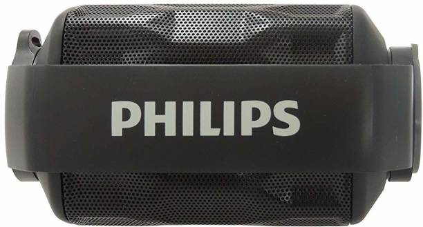 PHILIPS BT2200B/27 Shoqbox Mini Wireless Water Resistant Outdoor Portable Bluetooth 2.8 W Bluetooth Speaker