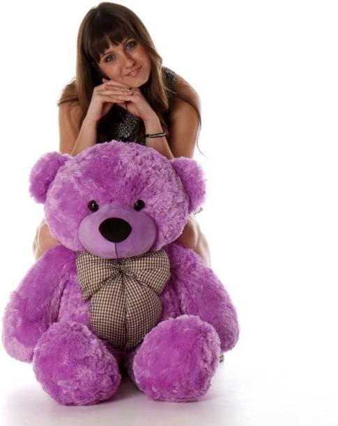 Mrbear 3 Feet Purple Color Teddy Bear Soft & Smooth Toys - 91 Cm (Purple)  - 91 cm