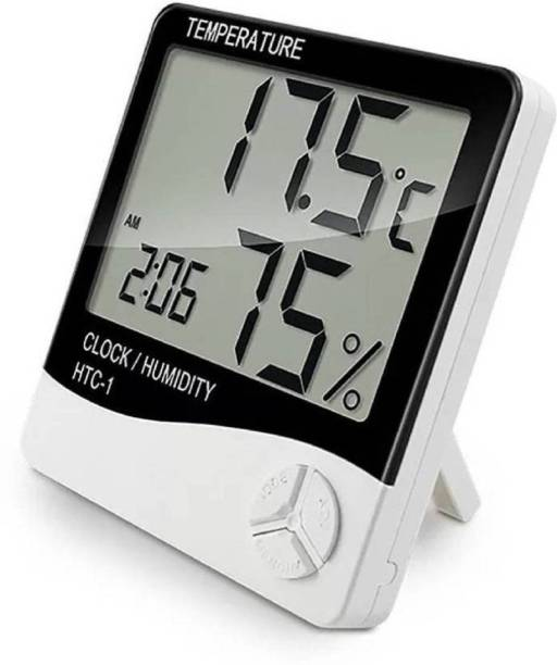 baluda Digital digitle, Temperature Humidity Time Display Meter with Wall Mount or Table Top Alarm Clock Clock