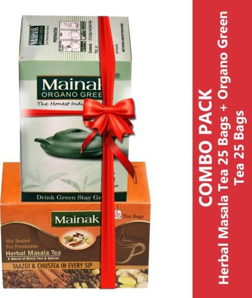 Mainak MMO_25_2 Unflavoured Green Tea Bags Box