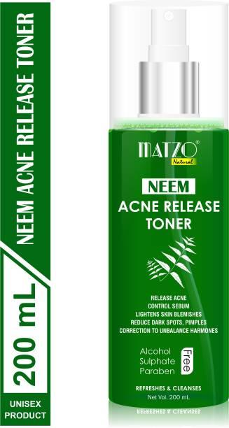 Matzo Natural Neem Acne Release Skin Toner, No Alcohol, No Sulphate, No Paraben Men & Women