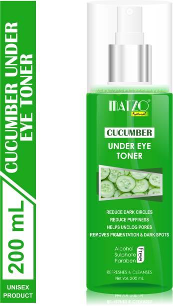 Matzo Natural Cucumber Under Eye Skin Toner, No Alcohol, No Sulphate, No Paraben Men & Women