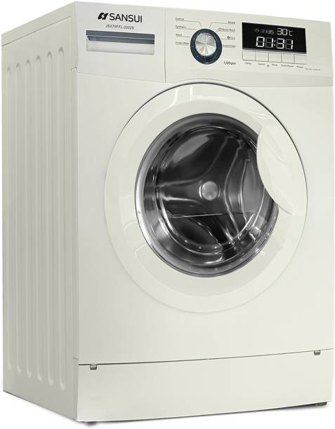 Sansui 6 kg Fully Automatic Front Load with In-built Heater White