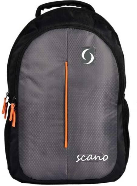 SCANO college bags for girls & Boys Waterproof School Bag (Grey, 25 L) 25 L Laptop Backpack
