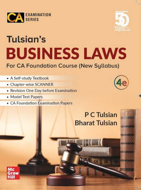 McGraw Hill Education Tulsian's Business Laws For CA Foundation New Syllabus By P C Tulsian and Bharat Tulsian Applicable for May 2020 Exam