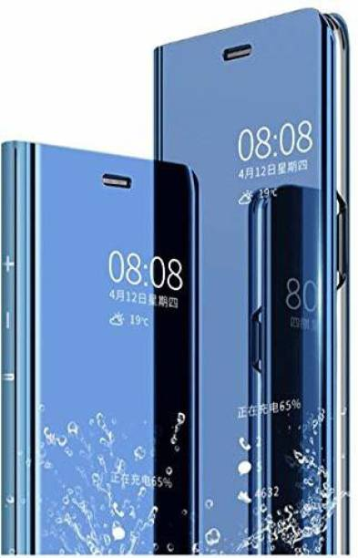 UNQMobi Flip Cover for Vivo S1 Pro Latest Clear Electroplate Plating Mirror Full Body Protective Flip Cover