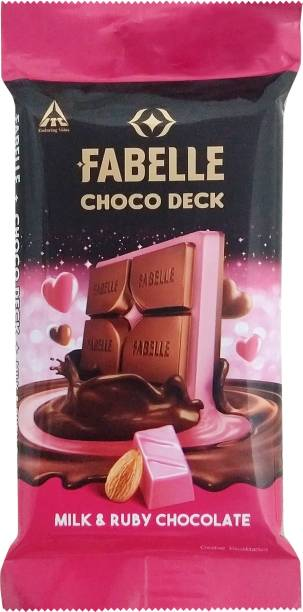 Fabelle Choco Deck Milk and Ruby Chocolate Bars