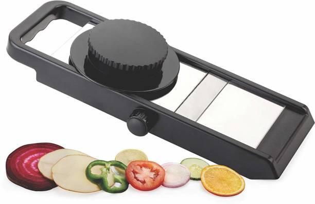 FLYBUY Creation Potato Slicer for Chips Vegetable & Fruit Cutter Slicer, Black/Silver Potato Slicer (1 Potato Slicer) Potato Slicer