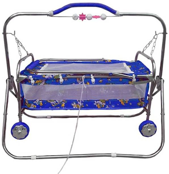 Style Jhula, swing for new born with wheels and net Bassinet