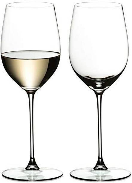 Hans Vahini (Pack of 2) Wine Glass - Ideal for Party Glass, Whisky Glass, Clear Glass, 400 ml, Set of 2 Glass Set