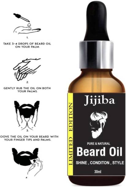 jijiba Beard Growth Oil for strong and healthy beard growth  Hair Oil