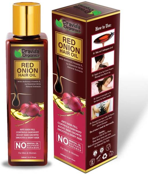 Dravida Organics Red Onion Hair Oil Preventing Hair Loss & Promoting Hair Growth Hair Oil