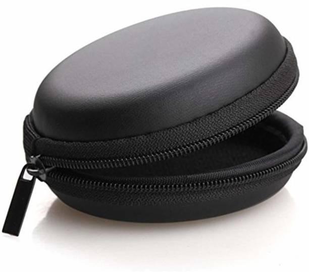 Plus Shine Leather Zipper Headphone Pouch