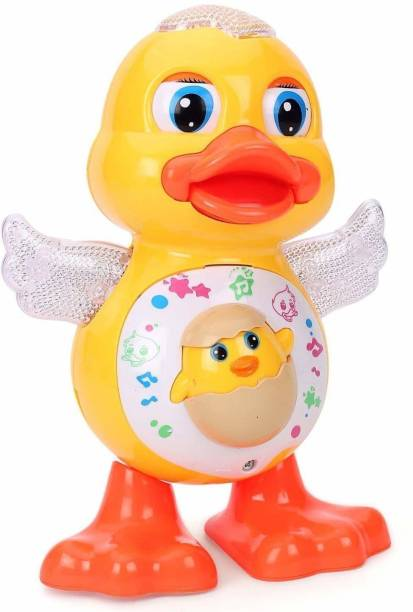 Smartcraft Dancing Duck with Music Flashing Lights and Real Dancing Action - Multicolor