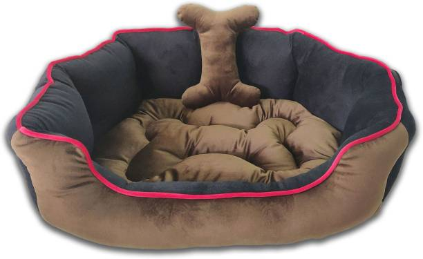 Dogerman Reversible Holland Velvet Bed for Dogs Cats Pet M Pet Bed