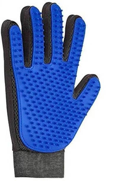 ROZKEY ENTERPRISE Efficient Pet Hair Remover Mitt Enhanced 5 Finger Design Gentle Deshedding Brush Gloves for Dog and Cat with Long and Short Fur Grooming Gloves for Dog & Cat