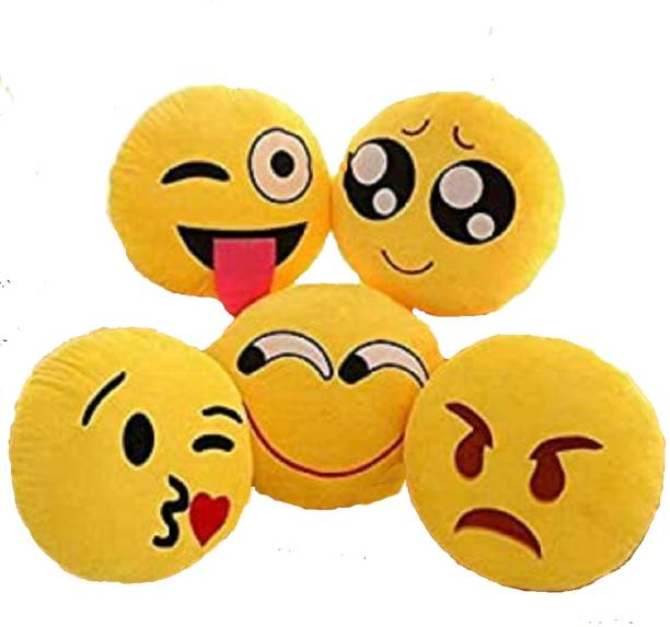 kihome Microfibre Smiley Cushion Pack of 5
