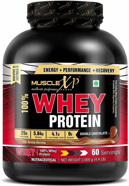 MUSCLEXp 100% Whey Protein New Gold Standards - With Digestive Enzymes Whey Protein