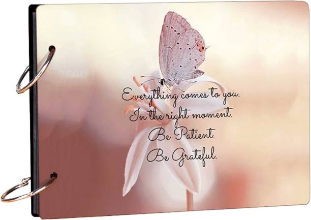 100yellow Be Patient Be Grateful (15 Pages) Photo Theme,  Scrapbook Kit