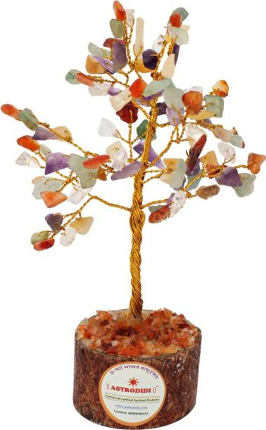 Astrodidi Gemstone Navratan Tree (Small Size) Decorative Showpiece  -  12 cm