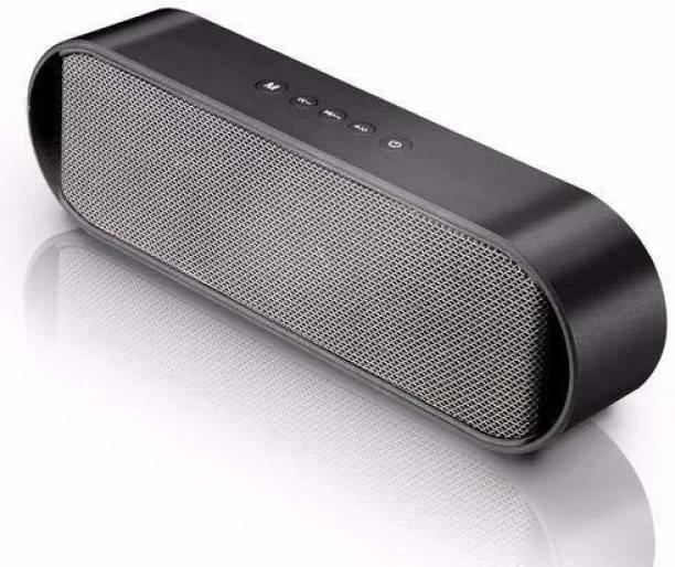 Pebble Groove Slide Portable Wireless Bluetooth Speaker with FM/USB/TF Card Reader/AUX (Grey) 14 W Bluetooth Speaker
