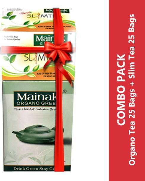 Mainak Slim Tea Bags Unflavoured Green Tea Bags Box