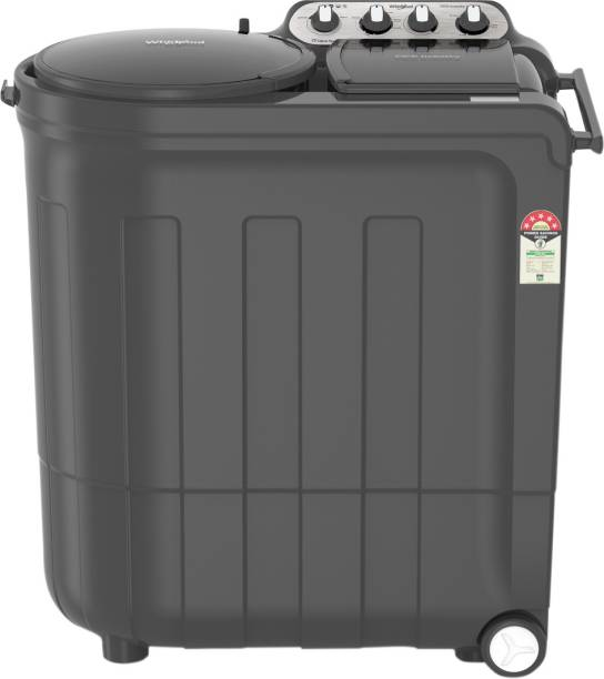 Whirlpool 8 kg 5 Star, Power Dry Technology Semi Automatic Top Load Grey