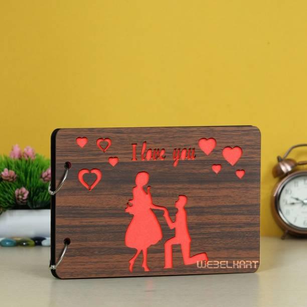 Webelkart Wooden DIY Photo Album Scrapbook Memory Book, Photo Album Album