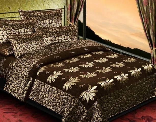 AMVY Creation 550 TC Velvet King Printed Bedsheet