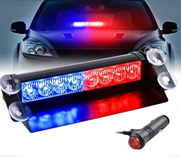 eliteauto Heavy duty 8 LED Strobe Waterproof Lights Blue/Red Flasher Police Warning Lamp for Car Dash Car Fancy Lights