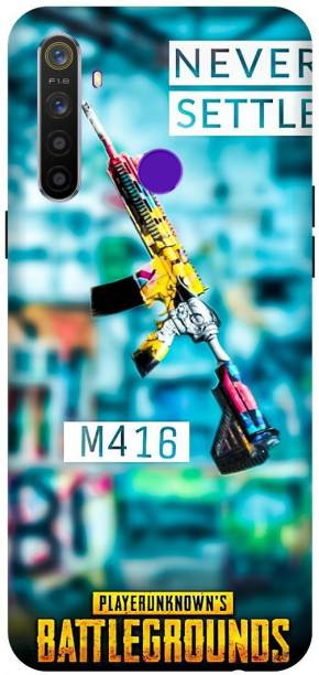 SAVETREE Back Cover for Realme 5i,5s Printed M416,Pubg Back Cover