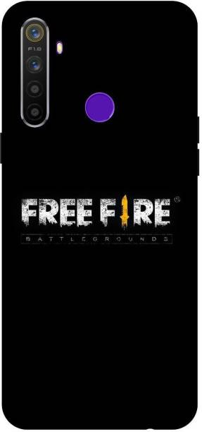 TPM Back Cover for Realme 5 Pro Printed Free Fire Back Cover