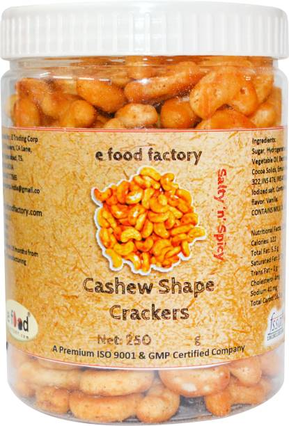 E Food Factory Cashew Shape Salty In Spicy Crackers