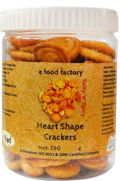 E Food Factory Heart Shape Salty In Spicy Crackers Salted Biscuit